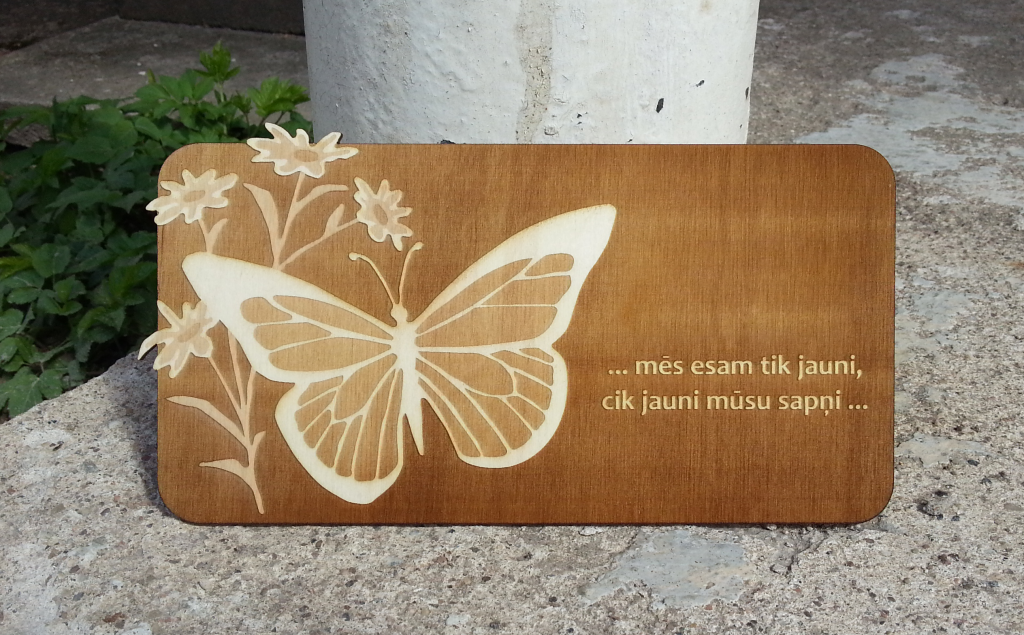 Plywood laser engraving