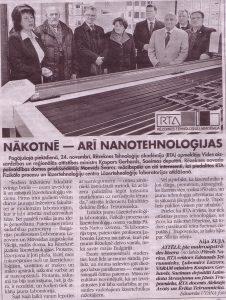 Nākotnē - arī nanotehnoloģijas